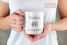 40th Birthday Gifts for Women 1981, Personalized Mug for Mom, 40th Birthday Mug Woman, Personalized Birthday Cups, FREE SSHIPPING Staff Gifts, Teacher Gifts, School Guidance Counselor, 40th Birthday Gifts For Women, Birthday Cup, Name Gifts, Gifts For Your Mom, Soul Sisters, Personalized Mugs