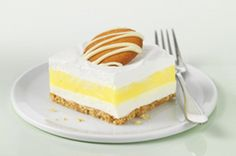 Lemon Striped Delight Bars