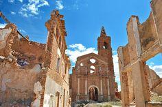 Belchite, Aragón. Pueblo abandonado.