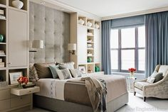 Remodelando la Casa: Built-ins around Bed - Inspiration - love the full wall headboard