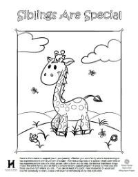 Siblings Are Special - A sample of activity pages for kids who have a sibling in the NICU. Created by Hand to Hold.