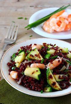 Insalata di riso venere con zucchine e code di gamberi | MIEL & RICOTTA