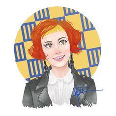 Hayley #11. Look: Ain't it fun music video, hayley williams, paramore, orange hair, hairstyles,  illustration, design