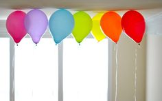 Rainbow + Balloons = happiness
