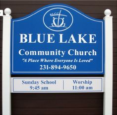 Another example of our PolyEngraved signs. This picture was taken at our sign factory before it was packed and shipped to Blue Lake Community Church in Holton, Michigan. Church Signs, Love Everyone, Pack And Ship, Your Message, Sunday School, Worship, Michigan, Community, Messages