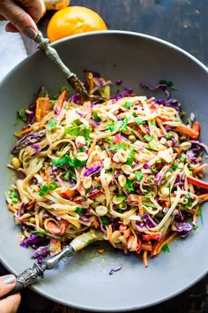 Vegan Thai Noodle Salad + Plus 10 Warming THAI RECIPES to help take the chill out of winter | www.feastingathome.com