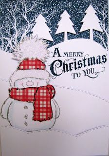 scrap,cards,chat and chocolate Stamped Christmas Cards, Christmas Card Crafts, Homemade Christmas Cards, Christmas Cards To Make, Xmas Cards, Holiday Cards, Christmas Snowman, Christmas Tree Painting, Christmas Drawing
