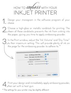 How to Emboss with Your Inkjet Printer tutorial (Damask Love)