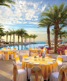 Dreams Los Cabos Suites Golf Resort & Spa wedding reception tablescape setup