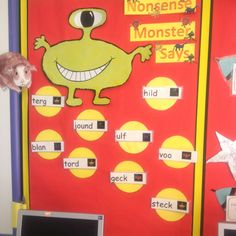 Nonsense words monster - great for Year One phonics screening