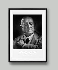 This is a limited-edition poster print of Yousuf Karsh's famous portrait of Jean Sibelius, now available for purchase. Works by Yousuf Karsh are rarely available in this format; this portrait of Jean Sibelius is rarely licensed. Yousuf Karsh, Famous Portraits, Great Photographers, Typography Design, Pop Up, Poster Prints, Movie Posters, Photography, Inspiration