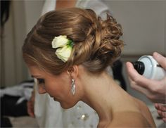 flower rose wedding hair