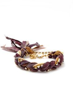 pretty color mix, silk braided ribbon