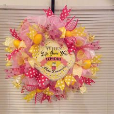 Lemonade summertime wreath $50