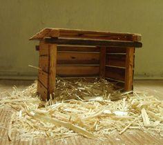 Crèche de la Nativité en bois