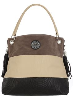 Panelled slouch bag  #DorothyPerkins So cute! This would go with so many outfits!