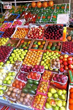 The colorful Dubai Markets - A few of the Produce appear to be packaged on styro-foam  and cellophane ...