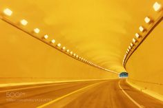 Yellow Tunnel by beco  mexico light car fast highway motion road speed blur tunnel luminescence no person transportation sy