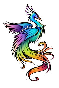 See more Colorful phoenix tattoo