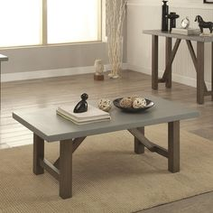 Round Concrete Coffee Table Could Build One Like This With