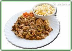 Sladkokyselá vepřová panenka v pomalém hrnci. Fried Rice, Crockpot, Slow Cooker, Fries, Ethnic Recipes, Food, Meal, Essen, Hoods