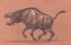Daeodon by WarrenJB on DeviantArt The Tables Have Turned, Horseshoe Crab, Short Comics, Downy, Prehistoric Animals, Cool Names, Fossils, Animals And Pets, Scary