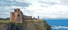 Tantallon Castle Ruins in Scotland.
