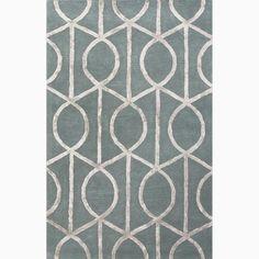 cool Hand-Made Geometric Pattern Blue/ Gray Wool/ Art Silk Rug (8X11) Check more at http://yorugs.com/product/hand-made-geometric-pattern-blue-gray-wool-art-silk-rug-8x11/