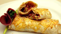 Pacanga Turkish Spring Rolls are very popular appetizers in Turkey. They are basically fillo pastry rolls with pastrami (past. Borek Recipe, Turkish Recipes, Ethnic Recipes, Popular Appetizers, Salty Foods, Bacon Recipes, Bacon Food, Food Videos, Recipe Videos