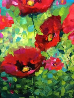 Detail from my 30X40 painting, Abundance Poppies, oil www.nancymedina.com