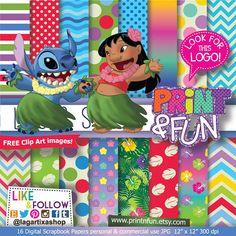 #LiloandStitch #stitch #Patterns #DigitalPaper #luau #hula #hawaiian #hawaii #invitations , €3.00