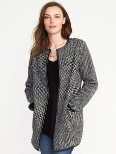 Textured-Jacquard Cardi-Coat for Women | Old Navy