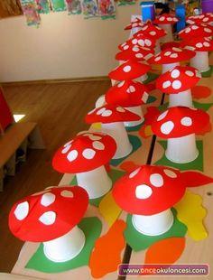 paper cup mushroom craft - Spring Crafts For Kids Daycare Crafts, Toddler Crafts, Preschool Crafts, Kids Crafts, Diy And Crafts, Arts And Crafts, Spring Crafts For Kids, Autumn Crafts, Autumn Art