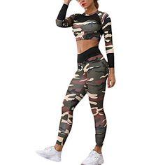 wenyujh Femmes 2 Pi/èces Surv/êtement Casual Ensemble de Sport Hoodie Sweat /à Capuche Top et Pantalon Yoga Fitness Jogging Gym Automne