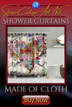 High Quality Fabric! Our luxurious high quality fabric shower curtains are all made with 100% premium grade soft polyester cloth. This allows the curtain to drape gracefully while also providing quick drying technology which easily evaporates any unwanted moisture. Shower Curtain Art, Cool Shower Curtains, Floral Shower Curtains, Shower Accessories, Bathroom Fixtures, Fabric Flowers, Technology, Stylish, Decorating