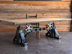 French Industrial Drafting table desk | Industrial drafting tables ...