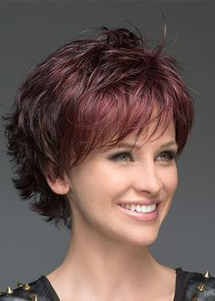Deluxe Layered Deeply Wavy Lace Front Wigs Synthetic Hair 10 Inches - New Site Bobs For Thin Hair, Short Hairstyles For Thick Hair, Short Hair With Layers, Layered Hair, Hairstyles With Bangs, Curly Hair Styles, Layered Bob With Bangs, Short Hair Cuts For Women With Bangs, Layered Bobs