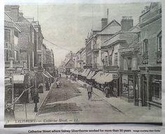 Catherine Street, Salisbury, City, Painting, Painting Art, Cities, Paintings, Painted Canvas, Drawings