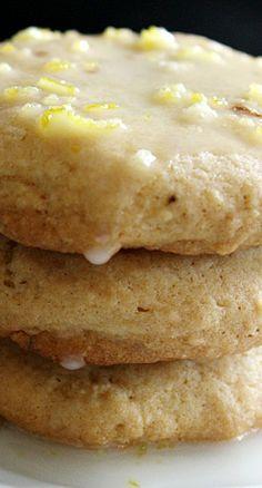 Lemon Cookies with Lemon Glaze