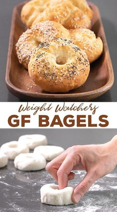gluten free breakfasts These simple Weight Watchers gluten free bagels are made with just 5 simple ingredients and have only 3 SmartPoints each. Even if you're not on WW, you're Gluten Free Diet, Foods With Gluten, Gluten Free Cooking, Gluten Free Breads, Gluten Free Pretzels, Gluten Free Sweets, Lactose Free, Healthy Gluten Free Snacks, Easy Gluten Free Meals