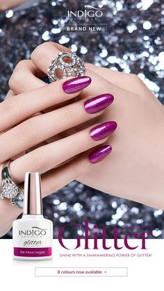 Be More Vegas – electrifying magenta in a glamorous edition! The legendary colour in an exquisite edition. It shines like neons of the world gamble capital! Mermaid Effect, Nail Lab, Vegas Nails, Gel Polish Manicure, Indigo Nails, Nail Effects, Nails Inspiration, Magenta, Glitter