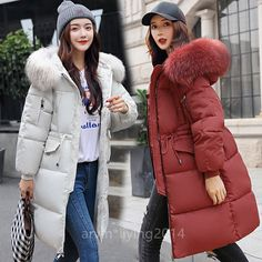New Winter Women's long Down Cotton Ladies Parka Hooded Coat Quilted Jacket Outwear online. Find the great Womens Coats Jackets Womens Coats Jackets Ladies Hooded Coats, Coats For Women, Long Parka, European Fashion, European Style, Womens Parka, Winter Jackets Women, Sporty Outfits, School Outfits