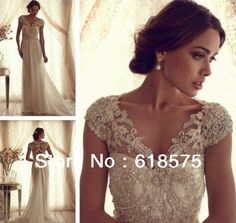 2016 Gorgeous Full Lace Bridal Gowns Sheer V Neck Off Shoulder Collection Chiffon  Wedding Dress-in Wedding Dresses from Weddings   Events on Aliexpress.com  ... 6f328108f16d