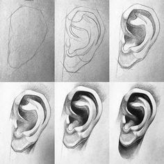 Pin by joey visser on drawing in 2019 рисунки, инстаграм. Eye Drawing Tutorials, Drawing Techniques, Art Tutorials, Painting Tutorials, Anatomy Art, Anatomy Drawing, Pencil Art Drawings, Art Sketches, How To Draw Sketches