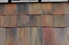 Rusty corrugated process