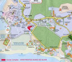 Map Of The Algarve South Portugal Showing Carvoeiro In The - Portugal map carvoeiro