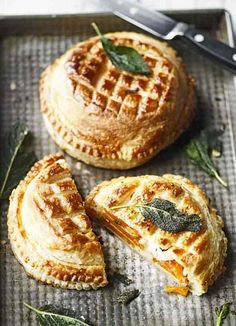 Butternut squash and gruyère pithier - This take on a puff pastry pie is a smart vegetarian main course for a dinner party, or as a special family lunch. Layers of butternut squash mean that once cut open this French-style dish looks as good on the inside as it does on the outside with its decorative top. Serve with a green salad or seasonal veg.