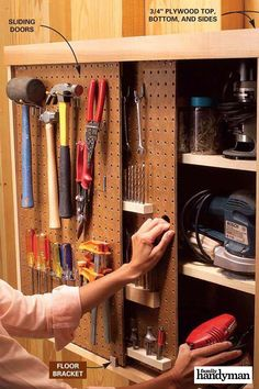 These tips will help you reduce the clutter and get your garage back in order. Find out our best garage organization tips here. Pegboard Storage, Garage Tool Storage, Garage Tools, Garage Ideas, Garage Workshop Organization, Organization Hacks, Organization Ideas, Garage Makeover, Space Saving Storage