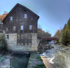 McConnell's Mill and Covered Bridge, Pennsylvania. Photo by Harold Stiver.  I'd love to see this one in person!