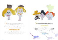 De koning de koningin en personeel in het sprookje: Prinses Iris en Het Regenboogmuseum